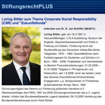 Interview zum Thema Corporate Social Responsibility