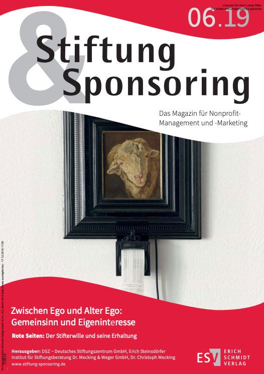 Stiftung & Sponsoring, Ausgabe 06/2019